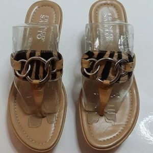 Franco Sarto Size 6.5 Animal Leather Sandals